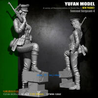1/35 WWII German Female Soldier Unpainted Model Kits YuFan Model Resin GarageKit