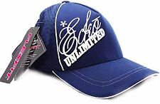 ECKO UNLIMITED Fitted Mesh Flexfit Baseball Cap Navy Blue with White