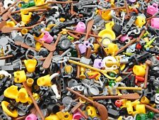 LEGO BULK LOT OF 100 NEW MINIFIGURE ACCESSORIES TOOLS UTENSILS FIGURE PIECES