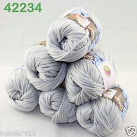 Sale Lot 6ballsx50g Soft Worsted Cotton Chunky Bulky Hand Knitting Shawl Yarn 34