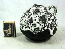 Well shaped 70´s design ES Keramik Fat Lava vase Emons & Söhne 45 / 10   white