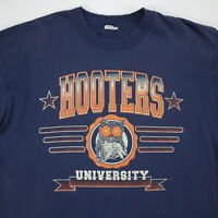 Distressed Hooters Univeristy T-Shirt Mens size XL Nicely Faded Grunge Skate