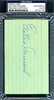 Elston Howard Psa/dna Authenticated Signed 3x5 Index Card Autograph