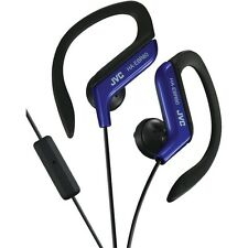 JVC HAEBR80A Sport-Clip In-Ear Headphones/Earphones with Microphone&Remote(Blue)