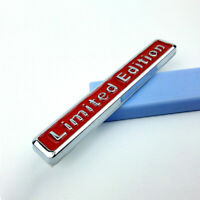3D Limited Edition Style Emblem Car Body Trim Sticker Decoration Decal Badge Red