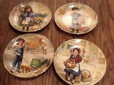 Set Of 4 Royal Wickford porcelain Limited Edition Lee Dublin Lil Peddlers Plates