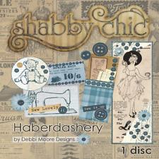 Debbi Moore - SHABBY CHIC HABERDASHERY CD-ROM (New sealed)