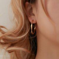 Fashion Gold/Silver Twist Earrings Drop Dangle Women Ladies Charm Jewellery Gift