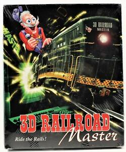 3D Railroad Master  PC Computer Game Ride The Rails New & Sealed Free Shipping