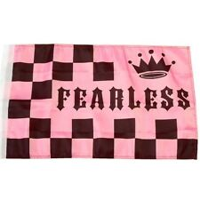 Small 12 Inch X 20 Inch Replacement Flag For Whip Antenna Pink Fearless Flag