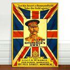 "Vintage WW2 War Poster Art ~ CANVAS PRINT 18x12"" ~ Take the Field again"