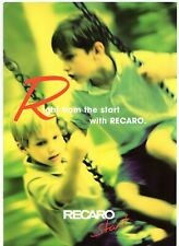 Recaro Start Child Safety Seat 1999 UK Market Sales Brochure
