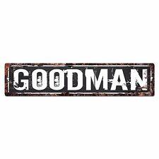 SLND0409 GOODMAN CAVE Street Chic Sign Home man cave Decor Gift