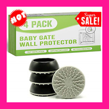 Baby Gate Wall Protector - Protect Walls & Doorways from Pet & Dog Gates 4 Pack