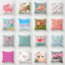 """18"""" Summer Flamingo Waist Throw Pillow Case Cushion Cover Home Sofa Garden Decor"""
