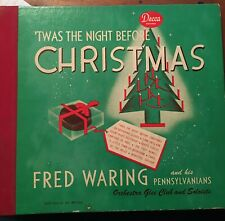 Fred Waring 'Twas the Night Before Christmas 1947 Decca A-480 Shellac 78 rpm