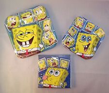 Spongebob Sqarepants Party Set for 8: Paper Dinner & Dessert Plates & Napkins