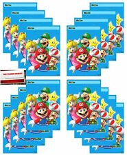 Super Mario Brothers 16 Pack Party Plastic Loot Treat Candy Favor Bags (Plus ...