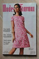 MODES ET TRAVAUX N°798 1967 mode fashion couture tricot pages poupées PATRON