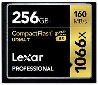 Lexar 256GB Professional 1066x UDMA 7 Compact Flash CF Pro VPG-65 4K Memory Card