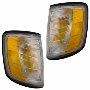 FREIGHTLINER FLD120 FLD112 1990-2007 CLEAR CORNER LAMPS TURN SIGNAL LIGHTS PAIR