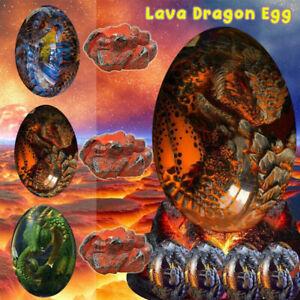 Crystal Lava Dragon Egg Resin Sculpture Ornamental Collection Decor Souvenir