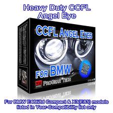 Heavy Duty BMW CCFL Angel Eyes Rings Extra White 7000K E46 ti td E83 X3
