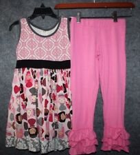 Kpea Dress & Ruffle Leggings Set Pink Dolls Little Girls Size 6