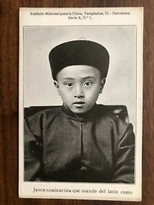 CHINA OLD POSTCARD MISSION CHINESE BOY !!