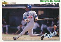 265 EDDIE MURRAY LOS ANGELES DODGERS  BASEBALL CARD UPPER DECK 1992