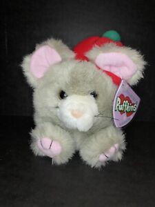 "Vintage Puffkins Plush Mouse 6"" Nutmeg 1994 Beanie"