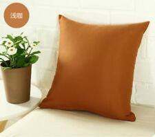 Plain Solid Throw Home Decor Pillow Case Bed Sofa Waist Cushion Multi-color