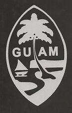 REFLECTIVE Guam Vinyl Decal Weatherproof Sticker Chamorru Island Bumper Window