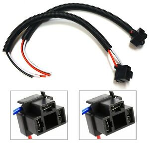 Extension Wire Pigtail Female P A 9003 H4 Two Harness Head Light Connector Plug