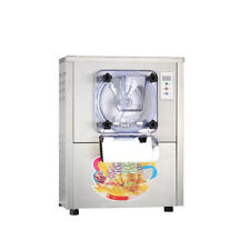 1400W CE Stainless Steel 1 Flavor Commercial Frozen Hard Ice Cream Machine 20L/H