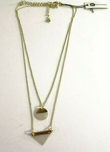 Bay to Bauble Women's Two Layer Opal Geo Pendant Necklace NWT 50