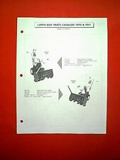 LAWN BOY 8 & 5 HP 2 STAGE SNOWTHROWER SNOWBLOWER 2680 & 2650 PARTS MANUAL 70 71