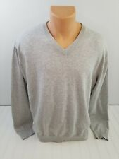 Ping V Neck Grey Cotton Golf Sweater Size Large