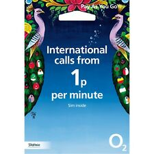 O2 International Pay & Go Sim Card - Trio Sim - International calls from 1p