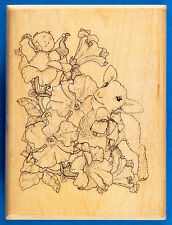 Lamb and Baby with Flowers Rubber Stamp by Mostly Animals - Sweet Baby Petunia