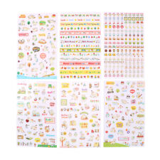 6 Sheets Kawaii Cat Transparent Stickers Scrapbooking Craft Stickers Kids Toy Kd