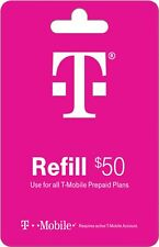 T-Mobile  Prepaid $50 Refill Top-Up Prepaid Card, Fast service!