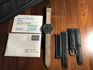 Nomos Minimatik Automatic Midnight Blue Dial Men's Watch 1205+Box+Papers!