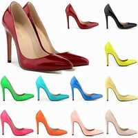 Women Lady Girl Sexy Pointed High Heels Office Work Party Pumps Shoes Plus Size