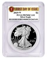 2019 W 1oz Silver Eagle Proof PCGS PR70 DCAM - First Day Issue Label