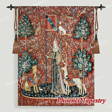 """The Lady & Unicorn Medieval Fine Art Tapestry Wall Hanging - TOUCH, 55""""x42"""", UK"""
