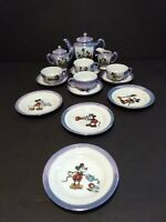 Vintage Long Nose  Mickey Mouse Child's tea set 1940-1950's Luster Ware