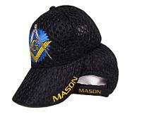 Black Mesh Mason Masonic Freemasonry Freemason Masonry Lodge Summer Cap (RAM)