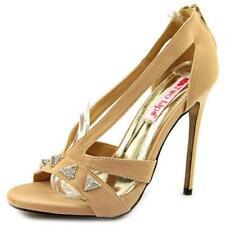 Calzado de mujer sandalias con tiras de color principal crema de lona