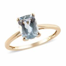 *** SALE *** Superb 1.25ct AA Espirito Santo Aquamarine Solitaire Ring. 9k Gold